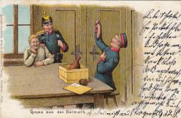 Photocarte Allemande-  GRUSS Aus Der Heimath. 1901(TTBE) 2scnas - Guerre 1914-18