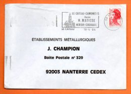 59 LE CATEAU CAMBRESIS  MUSEE H. MATISSE     16 / 4 / 1984   Lettre Entière N° A 984 - Postmark Collection (Covers)