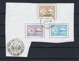 25-10-1961, Royaume Libye, Zeiten-Marsa Brega, YT 198 - 200 - Sur Feuille Papier, Tampon 25-10- 961 , Lot 40217 - Libya