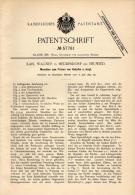 Original Patentschrift - Karl Wagner In Heddesdorf B. Neuwied , 1890 , Maschine Für Knöpfe , Knopf , Maschinenbau !!! - Maschinen