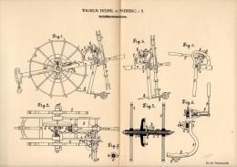 Original Patentschrift - W. Enderl In Freiberg I.S., 1890 , Kartoffel - Erntemaschine , Agrar , Landwirtschaft !!! - Maschinen