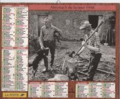 Almanach Du Facteur. LA POSTE. Calendrier Oberthur 1998. PAYSANS ANCIENS. - Formato Piccolo : 1991-00