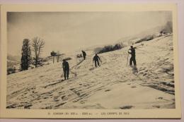 Cpa Cordon Les Champs De Skis - Animé Rare -  SE01 - Francia