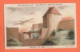 Chromo Image Chocolats Guérin-boutron Série Chateau De Caen  24 - Guerin Boutron