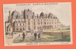 Chromo Image Chocolats Guérin-boutron Série Chateau D'eu 10 - Guerin Boutron
