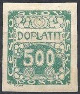 500 H. Vert Neuf - Timbres-taxe