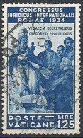 Congrès Juridique - 1.25 L. Oblitéré TTB - Vatican