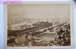 CHERBOURG VUE GENERALE DE LA RADE PRISE DU FORT DU ROULE PHOTOGRAPHIE 1888 MANCHE 50 - Photographs