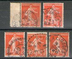 Lot N° 138IA° _CaD Perlés_ambulant_1907 écarlate_nuances - 1906-38 Sower - Cameo