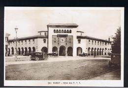 RB 962 - Early Morocco Postcard - Cars Outside Rabat Hotel Des P.T.T. - Post & Telegraph Office - Rabat