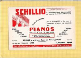 BUVARD  :SCHILLIO Pianos  Lille   Grand Format - Cinéma & Theatre
