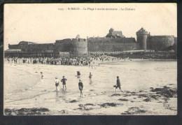 N29 Saint Malo - La Plage Du Château Avec Enfant - Castle, Beach, Schloss, Strand, Children - Ed. Hlm - Châteaux