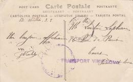 NAVAL CP 1916 SIDI ABDALLAH ( ALGERIE )  3 MARS 1916  FM  DU BATIMENT FRANCAIS NAVIRE HOPITAL DE TYPE ANNAMITE LINEAIRE - 1877-1920: Semi Modern Period