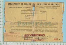 Certificat D´examen Medical Permettant L´exemption Du Service Militaire  En 1944 - 1939-45