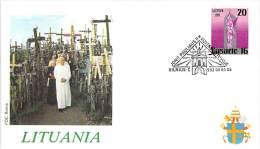 LITUANIE   CATHOLIQUE VOYAGE  PAPE  JEAN PAUL II   Pope John Paul II Papst Johannes Paul II  PAPA Jonas Paulius II - Lithuania