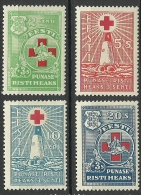 Estland Estonia 1931 Roter Kreuz Light Houses Leuchttürme Michel 90 - 93 * - Estland