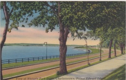Charlottetown, P.E.I. - Victoria Park Drive. Postally Used, Message, 1957 - Charlottetown