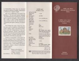 INDIA, 1995, La Martiniere College, Lucknow - 150th Anniversary,  Folder - Covers & Documents