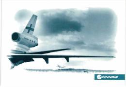Thème -  Avion -  Finnair  - 4 Cartes - 1946-....: Moderne