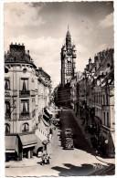 CPSM DOUAI (Nord) , Rue De La Mairie Et Le Beffroi, Carte Animée Et Vieilles Voitures