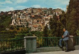 MONFORTE SAN GIORGIO (ME) PANORAMA CON UOMO IN PRIMO PIANO - Messina