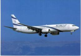 """Thème -  Avion -  El Al Israel Airlines - Boeing 737 858 """"Eliat"""" - 4X EKB Cn 29958/249 - GVA 10/2003 - 1946-....: Moderne"""