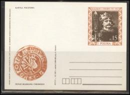 POLAND Stamped Stationery PL B2 037 Polish Kings Personalities BOLESLAW I CHROBRY - Stamped Stationery