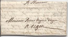 Pli D'Aix En 1664 - ....-1700: Precursors