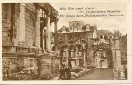 CROAZIA - SPALATO - SPLIT - Mausoleo Diocleziano (foto E Francolobollo Mussolini Con Hitler) - Jugoslavia