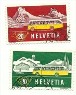1953 - Svizzera 537/38 Autobus C2900, - Bus
