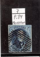 N°7 - Obl.P.84 - MOUSCRON - Margé (à Voir) - 1851-1857 Medallones (6/8)