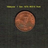 MALAYSIA    1  SEN  1978  (KM # 1) - Malaysia