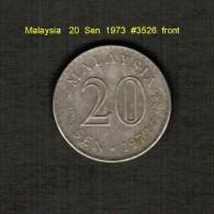 MALAYSIA    20  SEN  1973  (KM # 4) - Malaysia