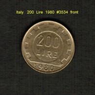 ITALY    200  LIRE  1980  (KM # 105) - 1946-… : Republic