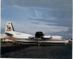 Thème -  Avion - JJ Postcards 142 - Air Mindanao Fairchild F 27J RP C5138 Cn 120 - Zamboanga 2/80 - 1946-....: Moderne