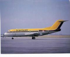 Thème -  Avion - JJ Postcards 216 - Transair Fokker F28 Mk 1000 C FTAY Cn 11038 - 1946-....: Moderne