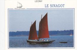 """CPM  """" SINAGOT - Les 3 Frères """" Naviguant Dans Le GOLFE Du MORBIHAN - Sailing Vessels"""