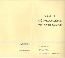 SMN. Sté Métallurgique De Normandie. Le Nouveau Train à Fil De L´usine De Mondeville - Tools