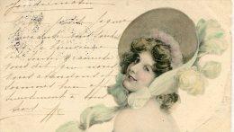 CPA JOLIE FILLE  1904 - Donne