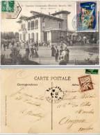 Marseille - Exposition Internationale D'Electricité, Maison Moderne ( Vignette, Cachet Hexagonal, Timbre Taxe) - Exposition D'Electricité Et Autres