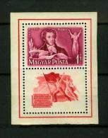 Hungary 1949,1V In Block,writer Puskin,geburtstag Puschkins,geboortedag Puskin,MNH/Postfris (D1785) - Ecrivains