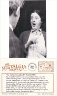 Postcard 1945 General Election Labour Party Landslide Victory Reaction Nostalgia Repro - Political Parties & Elections