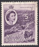 North Borneo, 5 C. 1954, Sc # 265, Mi # 298, Used - North Borneo (...-1963)