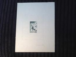 Monaco Poste Aérienne 1941 Yv.5  20f PEGASE ÉPREUVE D´ ARTISTE (Die Proof, Mythologie Pegasus Cheval Mythology Horses)