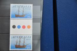 M 295 ++ AUSTRALIA 1983 SAILING SHIPS ZEILSCHEPEN GUTTER PAIR ++ MNH - NEUF - POSTFRIS - 1980-89 Elizabeth II