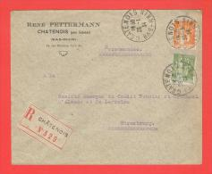 Recommandé CHÂTENOIS Bas Rhin 26.1.1934  Entête René Pettermann - Marcophilie (Lettres)