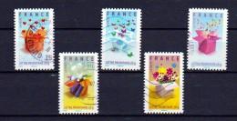 FRANCE 2007 : TIMBRES MESSAGES / LES CADEAUX / SERIE COMPLETE - Oblitérés