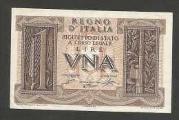ITALIA - REGNO D' ITALIA - 1 Lira IMPERO (Decr. 14/11/1939) VITTORIO EMANUELE III - [ 1] …-1946 : Regno