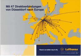 Thème -  Avion - Lufthansa - 47 Direktverbindungen - 1946-....: Moderne