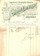 Mouscron 1917 Henri Lerouge Imprimerie Lithographie - Printing & Stationeries